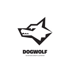 Wolf head - vector logo concept illustration. Dog head - vector concept illustration. Wilde animal graphic illustration. Vector logo template.