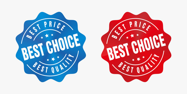 Vector Best Price Best Choice Best Quality Badge