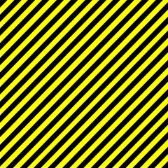Industrial striped road warning yellow-black pattern vector