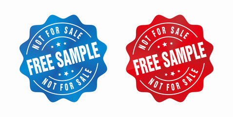 vector free sample not for sale badge