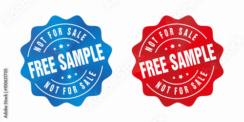 vector free sample not for sale badge stock image and royalty free