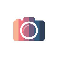 Colorful photo camera silhouette, design element