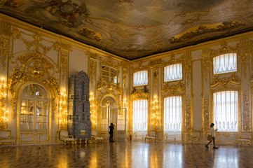Interior of Catherine palace Wall mural