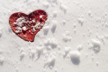 heart and snow