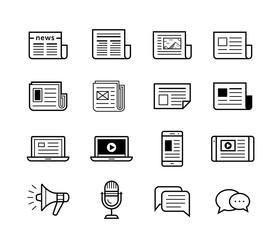 Media icons set - Simplus series