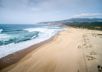 Aerial View of Guincho Beach, Cascais, Portugal