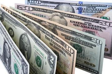 Row of Dollar Banknotes