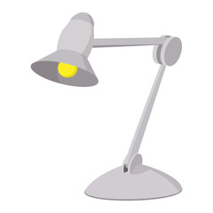 Desk lamp cartoon icon