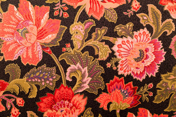 Floral deisgn on fabric