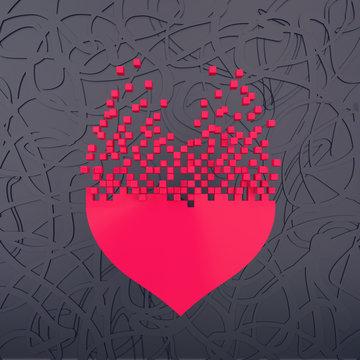 stylized heart shape