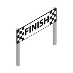 Finish line isometric 3d icon