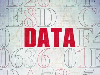 Data concept: Data on Digital Paper background