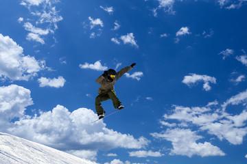 Fototapete - salto fra terra e cielo