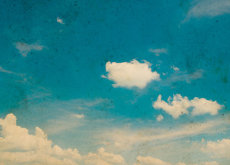 Poster Retro Blue sky grunge background