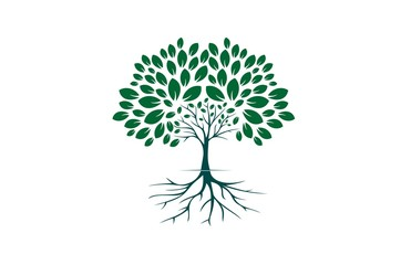 tree logo icon vector