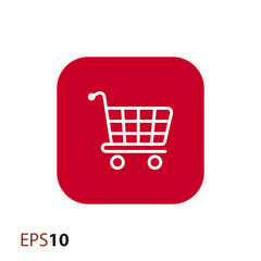 Shopping trolley icon for web and mobile