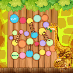 Game template with giraffes in background