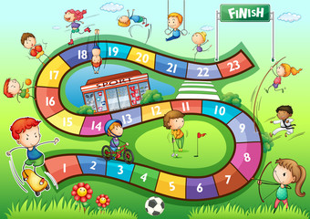 Boardgame template with sport theme