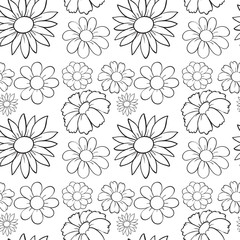 Seamless flowers in draft