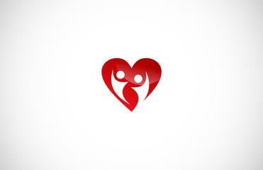 love couple vector logo