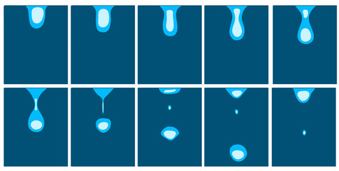 animation of falling droplets
