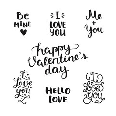 Vector Valentines day photo overlays