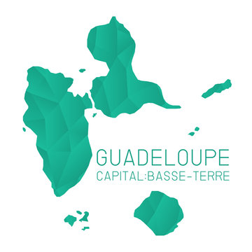 Guadeloupe map geometric texture background