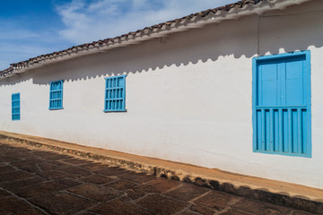 Old colonial house in Barichara village, Colombia