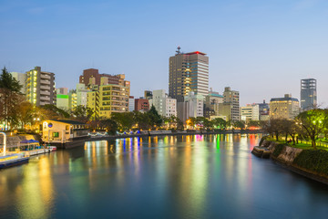 Staande foto Los Angeles Hiroshima skyline cityscape in Japan