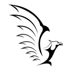 Eagle And Falcon Logo Mascot Black