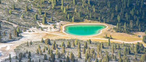 Le Tofane lake, Dolomites