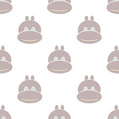 grey hippo seamless texture, isolated vector