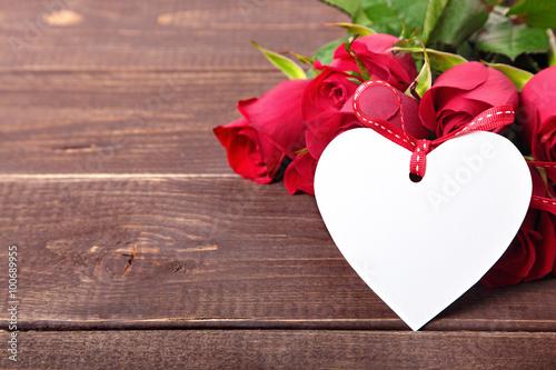 Сердце букет розы без смс