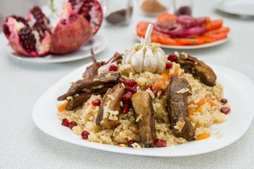 National rice pilaw with lamb