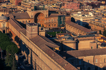 Fototapete - Aerial view of Vatican City and Rome, Italy