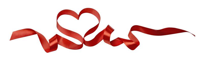 Heart ribbon valentine design image horizontal isolated