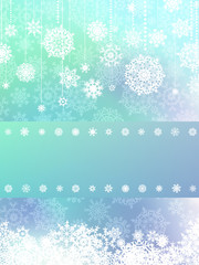 Elegant background with snowflakes. EPS 8