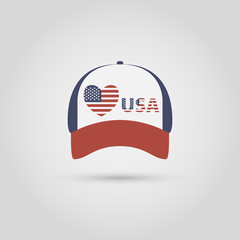 Cap and national symbols. love for America
