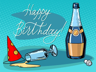 Happy birthday champagne party