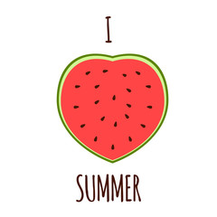 I love the summer.