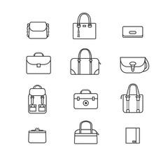 Bag icons set, Vector