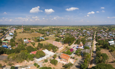 countryside landscape in thailand view from drone