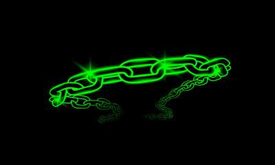 neon illuminated chain
