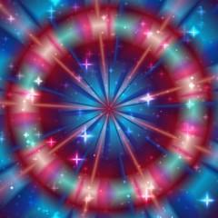 Mandala, bright starry circle