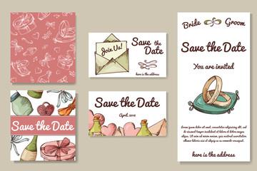 Wedding card collection. Template of invitation card. Decorative greeting invitaion design