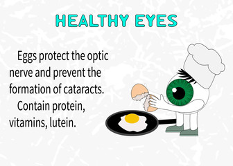 Info about the benefits of eggs for eyesight