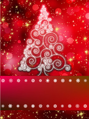 Shinny Christmas tree abstract background. EPS 8