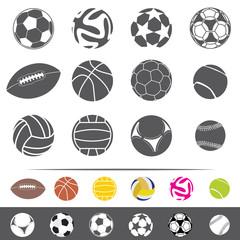 sportive balls vector set