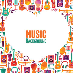 Music background. Vector illustration