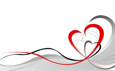 Walentynkowa abstrakcja